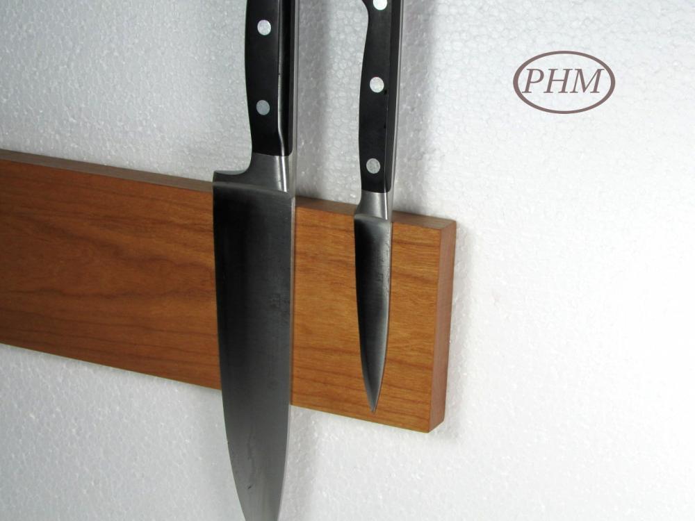 6er Magnet Messerleiste Eiche Holz Messerblock Magnetleiste Schlüsselbrett